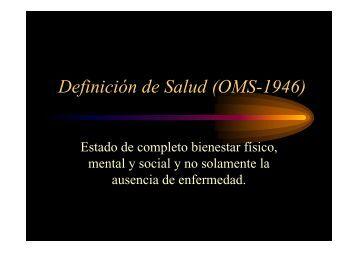 Definición de Salud (OMS-1946)