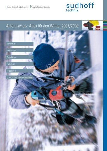 Arbeitsschutz: Alles für den Winter 2007/2008 - sudhoff technik GmbH
