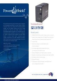 PowerShield CompuGuard UPS Brochure