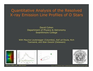 Quantitative Analysis of the Resolved X-ray Emission Line Profiles of ...