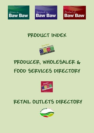 product index producer, wholesaler & food services directory