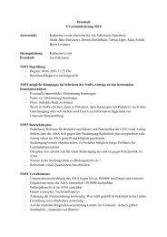 Protokoll 5.Vorstandssitzung SS10 Anwesende: Katharina Losch ...