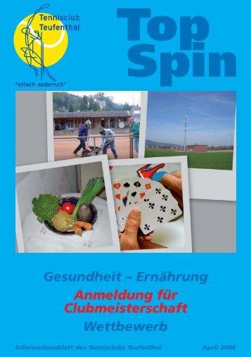 TopSpin 2/08 - Tennisclub Teufenthal