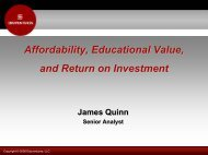Segment Marketing: What Drives Student Value? - AACRAO