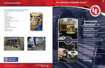 CLS Training & Certification Course - Lubrication Engineers