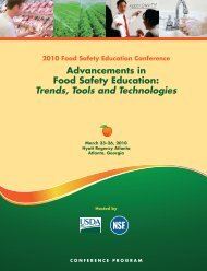 2010 Food Safety Education Conference. - Food Safety and ...