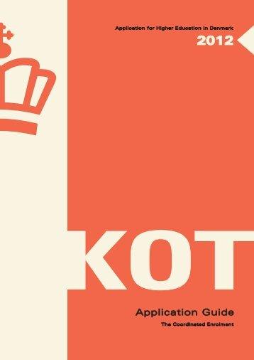Application Form 2012 - Optagelse.dk