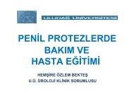 penil protezlerde bakım ve hasta eğitimi - Türk Üroloji Derneği