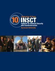 INSCT 10Y Report - Institute for National Security and ...