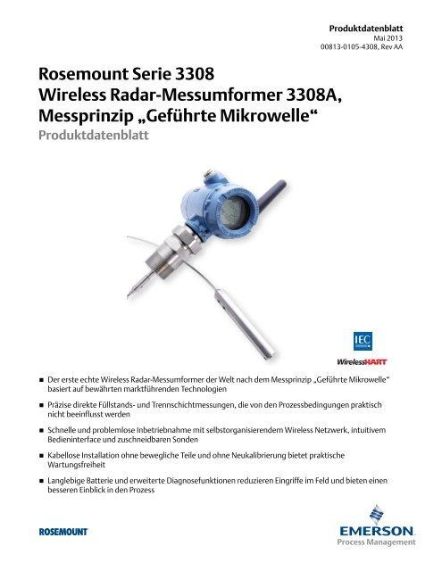 Rosemount Serie 3308 Wireless Radar-Messumformer 3308A ...