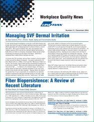A Review of  Recent Literature - Unifrax