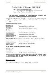 Protokoll der 2. o. UV- Sitzung im WS 2011/2012 - Österreichische ...