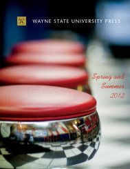 Spring and Summer 2012 - Wayne State University Press