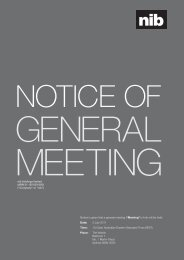"""Notice is given that a general meeting (""""Meeting"""") of nib will be held ..."""
