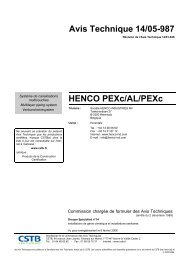 Avis Technique 14/05-987 HENCO PEXc/AL/PEXc - Pegler Yorkshire
