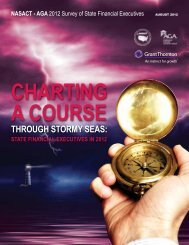 Charting a Course Through Stormy Seas: State Financial ... - NASACT