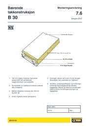 Bærende takkonstruksjon B 30 - Glava
