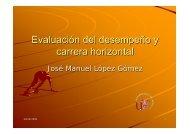 Evaluación del desempeño y carrera horizontal