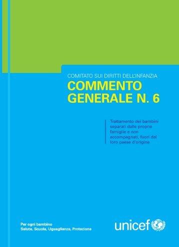 Commento generale n. 6 - Sportello di informazione sociale della ...