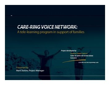 Mark STOLOW – Care-ring Voice Network - solutions - east toronto's ...