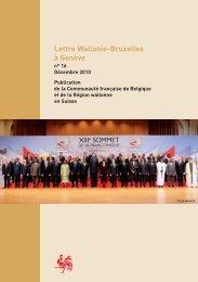 Lettre de la Délégation Wallonie-Bruxelles à Genève - n° 16 - WBI