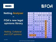 Netting Analyser ~ FOA's new legal opinions library - Futures and ...