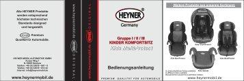 Скачать инструкцию для кресла Heyner Multi Protect AERO