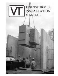 transformer installation manual - Virginia Transformer Corp