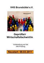 Von der Fach - Volkshochschule Brunsbüttel eV