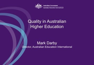 Quality in Australian Higher Education - Council for Higher ...