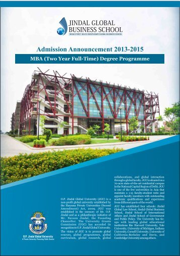JGBS MBA Brochure new design - Jindal Global Business School