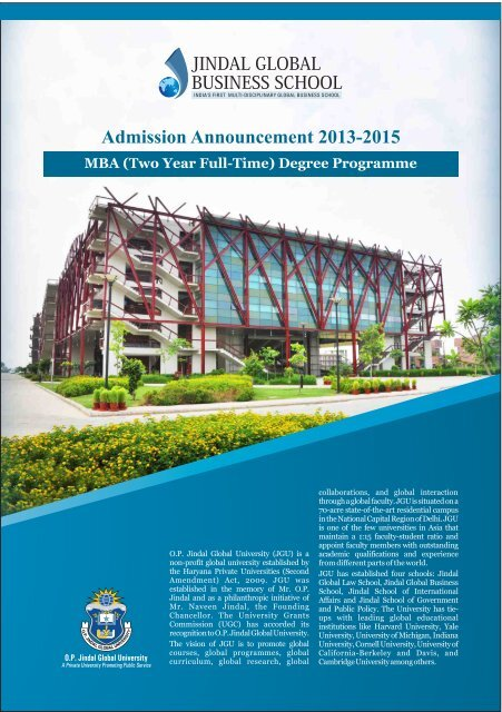 JGBS MBA Brochure new design - Jindal Global Business School