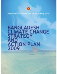 Bangladesh Climate Change Strategy and Action Plan 2009