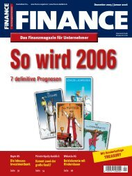 Finance - Dezember/Januar 2005/2006 - Klein & Coll.