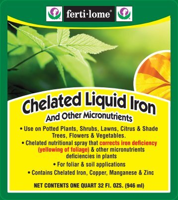 Label 10630 Chelated Liquid Iron Approved 01-03-11 - Fertilome