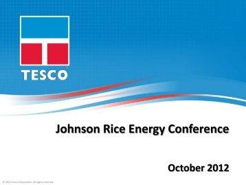 Download Presentation - TESCO Corporation
