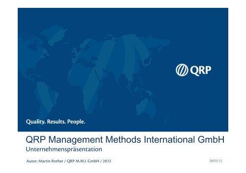 Italienisch - QRP Management Methods International GmbH