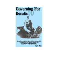 Governing for Results 10 - Washington State Digital Archives