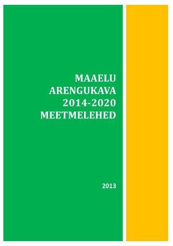 MAK 2014-2020 meetmelehed - Põllumajandusministeerium
