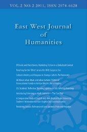 East West University Journal of Humanities, VOL.2 NO.2 2011