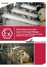 nLLK 10 Ex-light fittings - Cooper Crouse-Hinds
