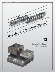 One World. One Smart Choice. ™ T2 - Anton/Bauer