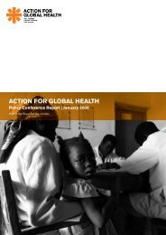 Questions and comments from the floor - Action for Global Health
