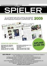 ANZEIGENTARIFE 2009