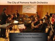The City of Pomona Youth Orchestra