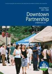 2008 Annual Report - Downtown Baltimore