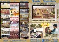 Unser aktueller Prospekt - Resaifar Teppichhaus