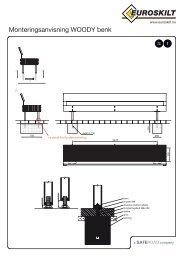 Monteringsanvisning WOODY benk - Euroskilt AS