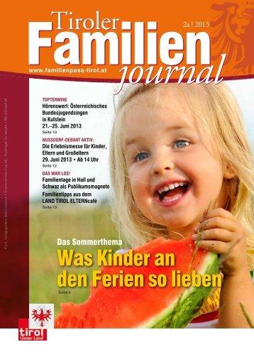 Journal 2/13 - Tirol - Familienpass