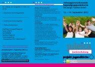 in für junge Teamer|innen 15. – 16. September 2012 Juniorschulung